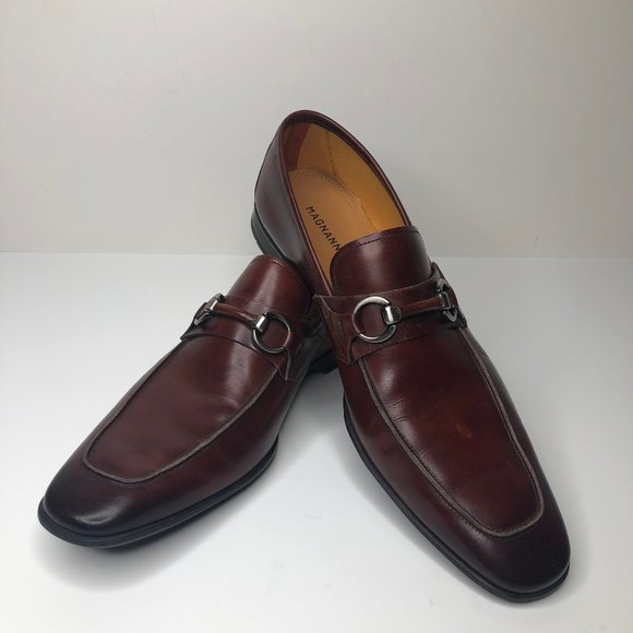 Brown Leather Horsebit Loafers Dress